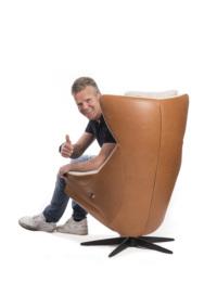 Erik Hulzebosch in fauteuil
