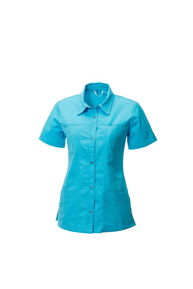 werkkleding blouse blauw